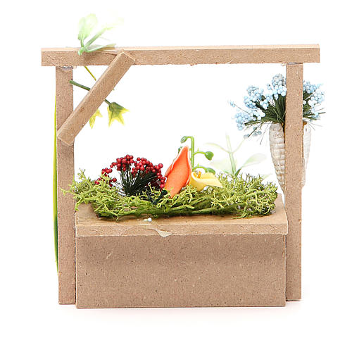 Florist stall for nativities measuring 10.5x11x4cm 2