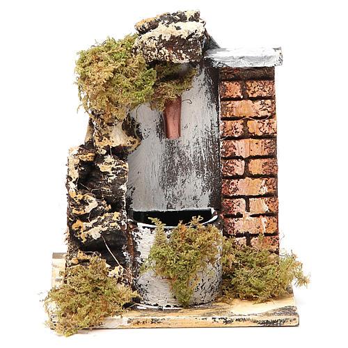 Fuente belén madera y corcho 14x11x11 cm modelos surtidos 3