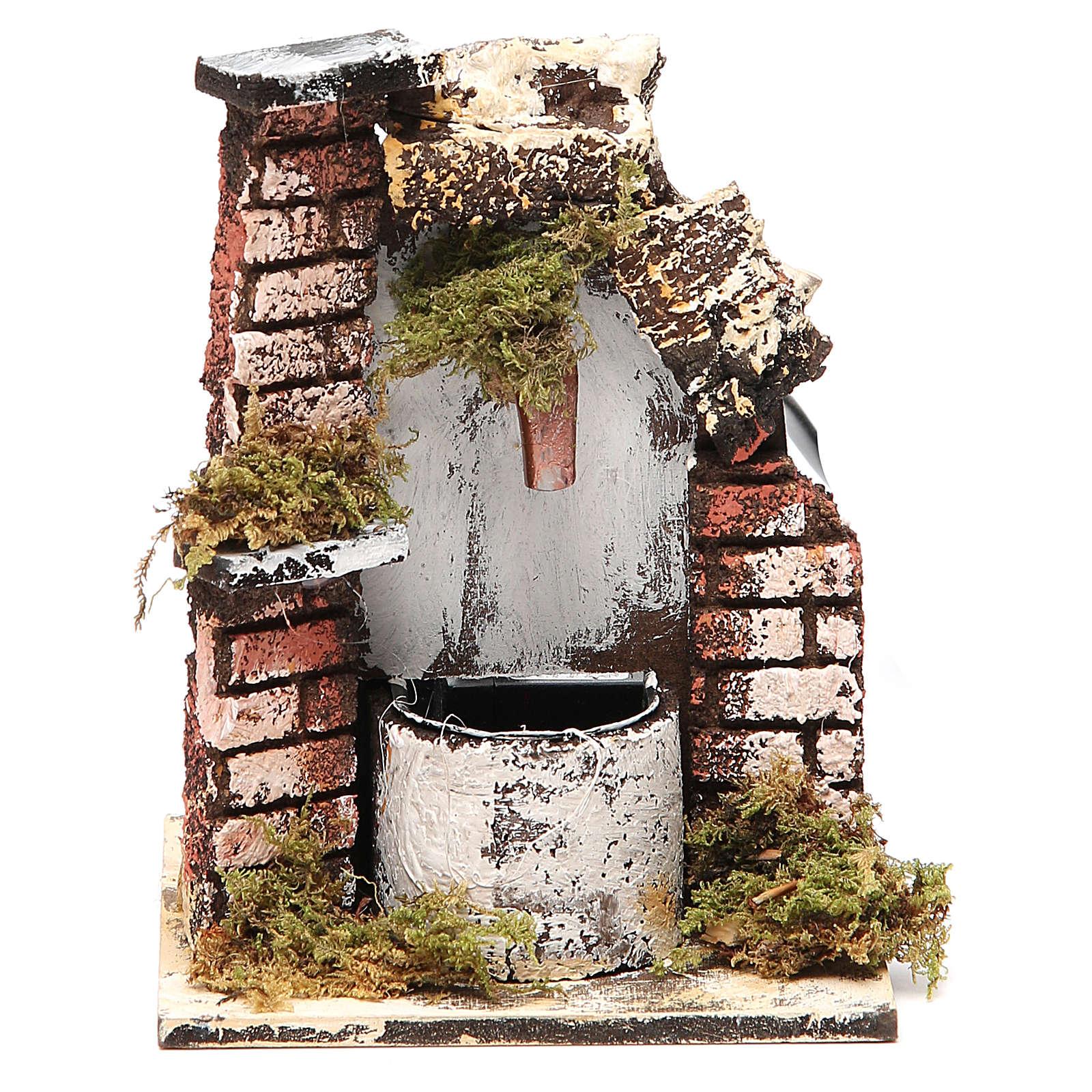 Fontaine crèche bois et liège 14x11x11 cm modèles assortis 4