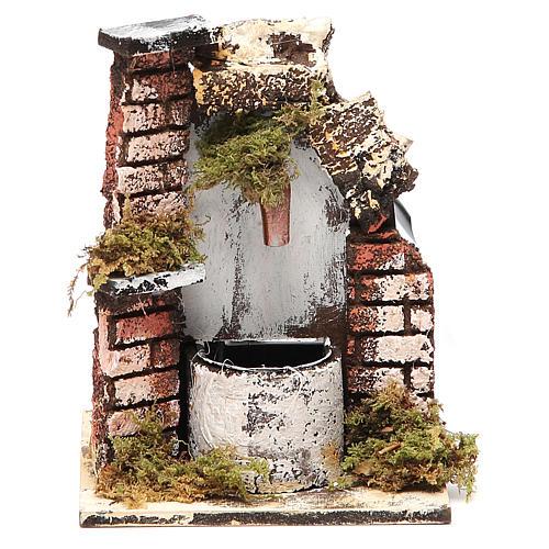 Fontaine crèche bois et liège 14x11x11 cm modèles assortis 1