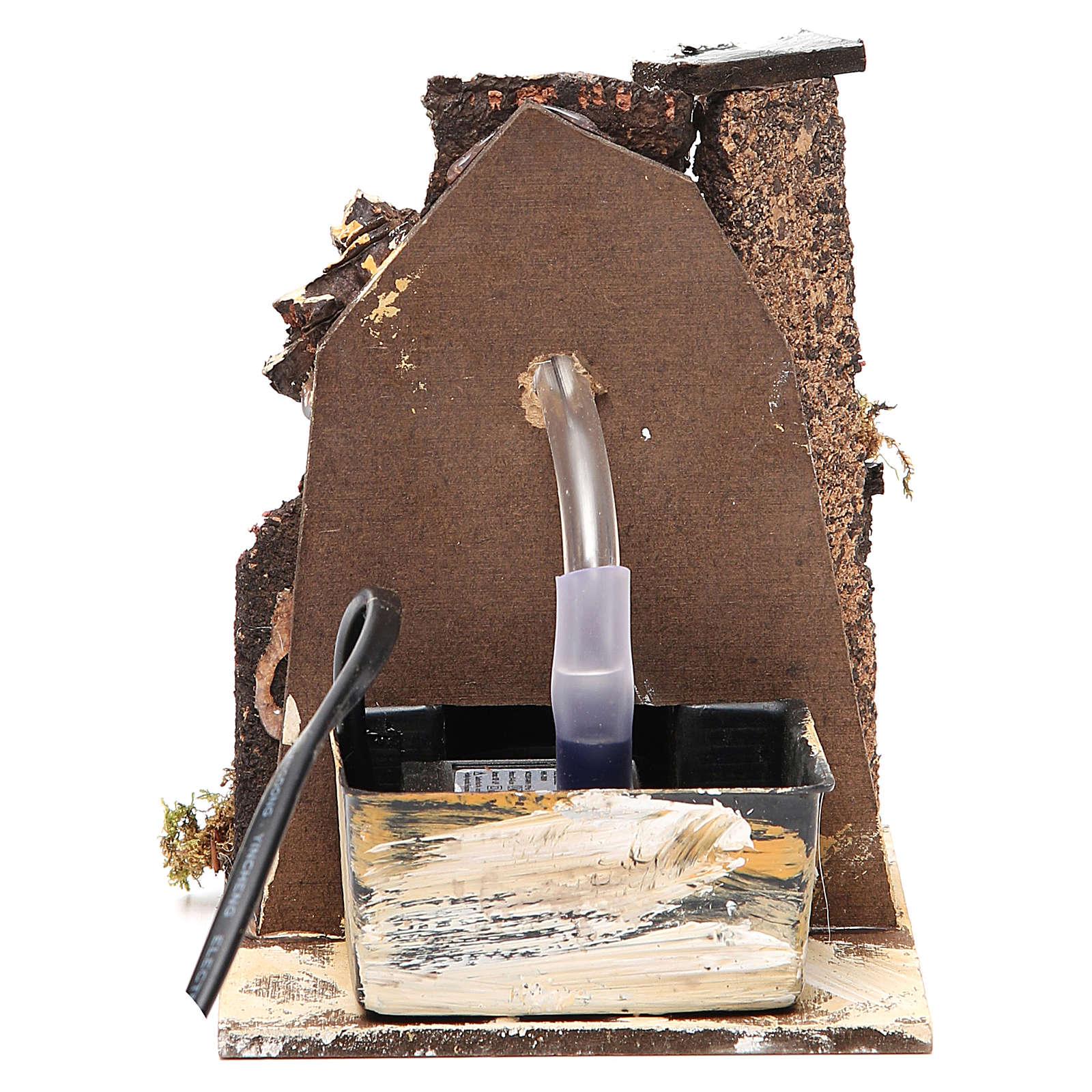 Fontanário para presépio madeira e cortiça 14x11x11 cm modelos vários 4