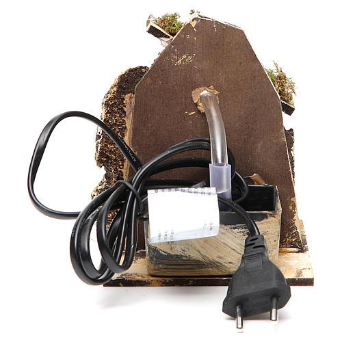 Fontanário para presépio madeira e cortiça 14x11x11 cm modelos vários 5