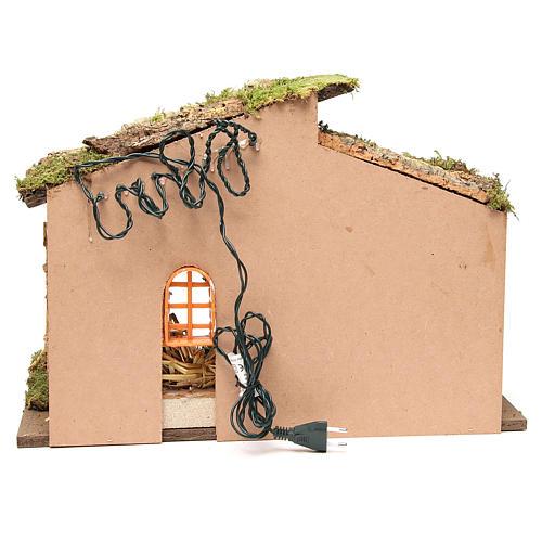 Cabane crèche avec lumières 36x50x26 cm 4