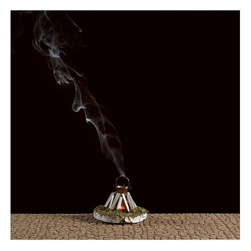 Hoguera redonda con humo 4,5V 5x5 cm 2