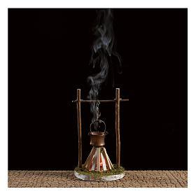 Feu avec fumée et lumière 4,5V 15x10 cm s2