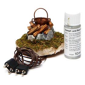Fire Nativity with smoke 4,5V h. 6,5x3,5cm s3