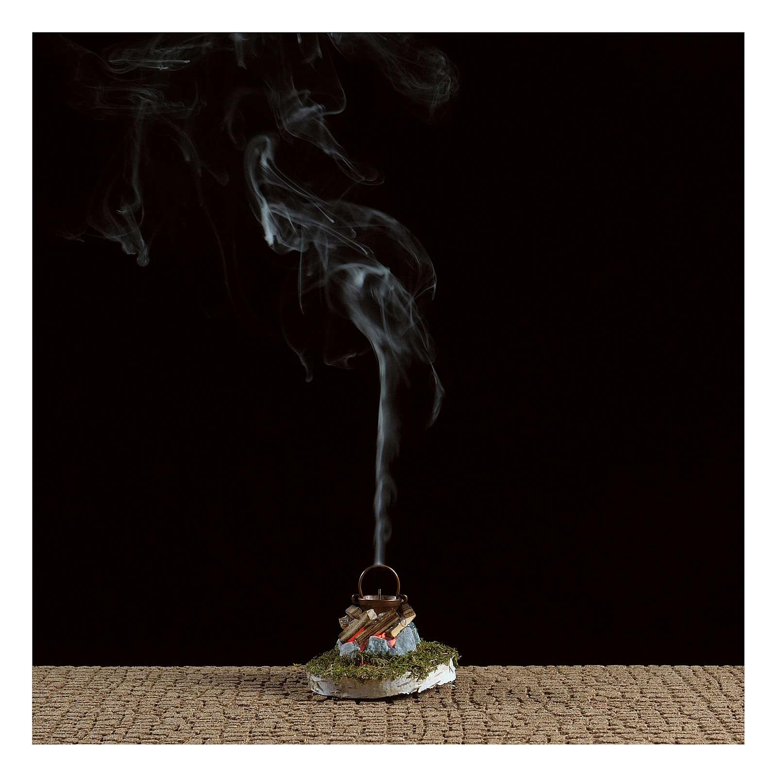 Fuoco presepe con fumo 4,5V h. 6,5x3,5cm 4
