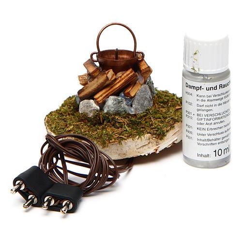 Fire Nativity with smoke 4,5V h. 6,5x3,5cm 3