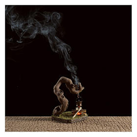 Fuego para belén con humo 4,5V h.12x8x7 cm s2