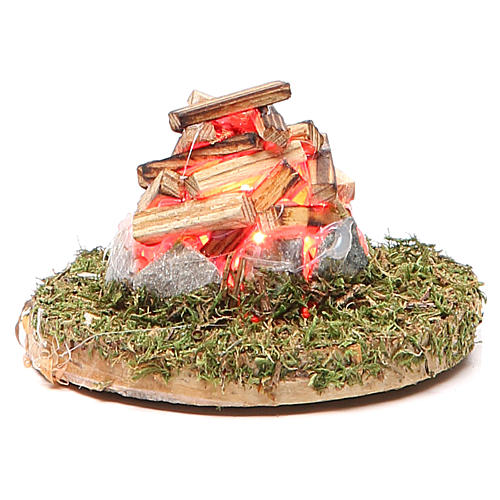 Fire for nativity with light 3,5V h.4x7cm 1