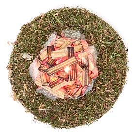 Fuego para belén con luz 3,5V h.4x7 cm s2