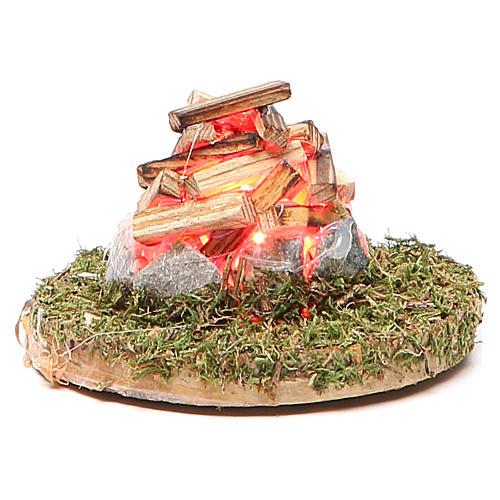 Fuego para belén con luz 3,5V h.4x7 cm 1