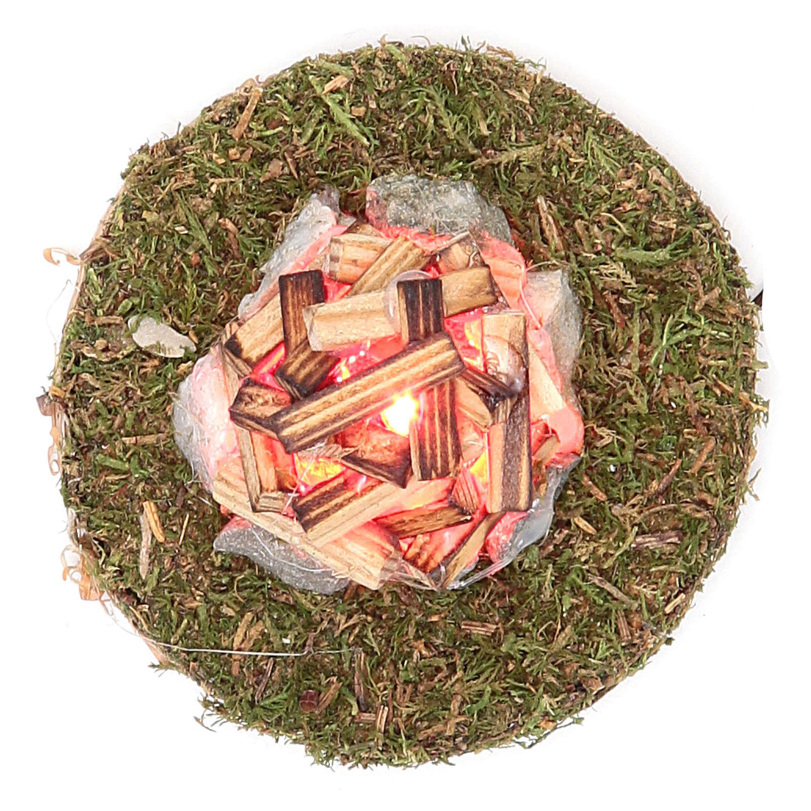 Ogień do szopki z oświetleniem 3,5V h.4x7 cm 4