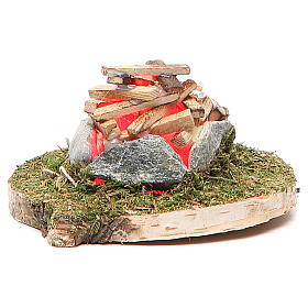 Fire for nativity with light 4,5V h.8x5cm s1