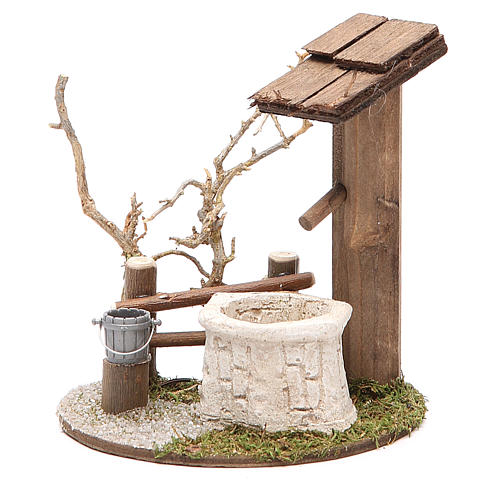 Little Fountain with tree 10x7x11cm 1