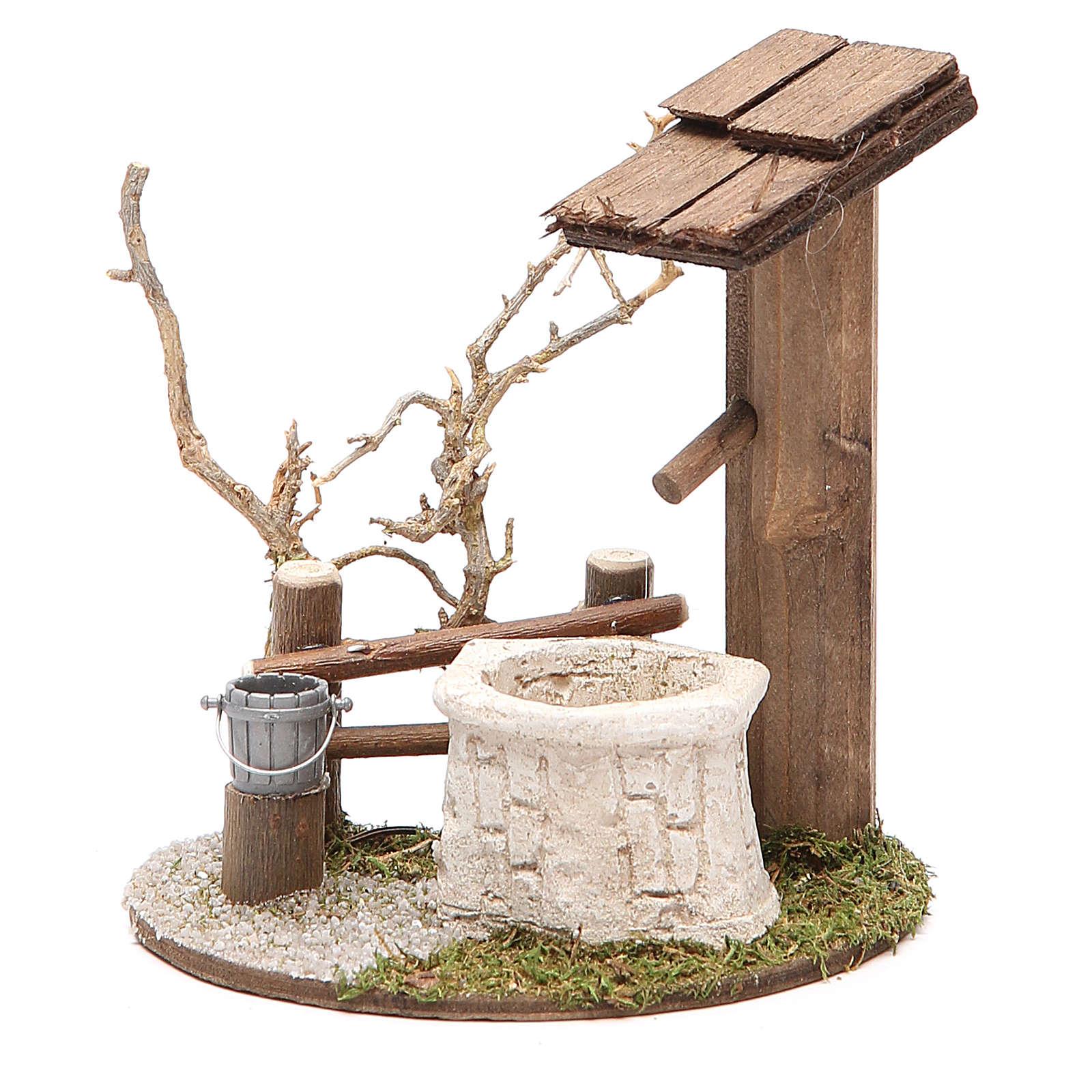 Fontaine avec arbre 10x7x11 cm 4