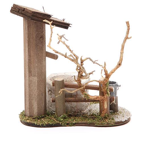 Fontaine avec arbre 10x7x11 cm 2