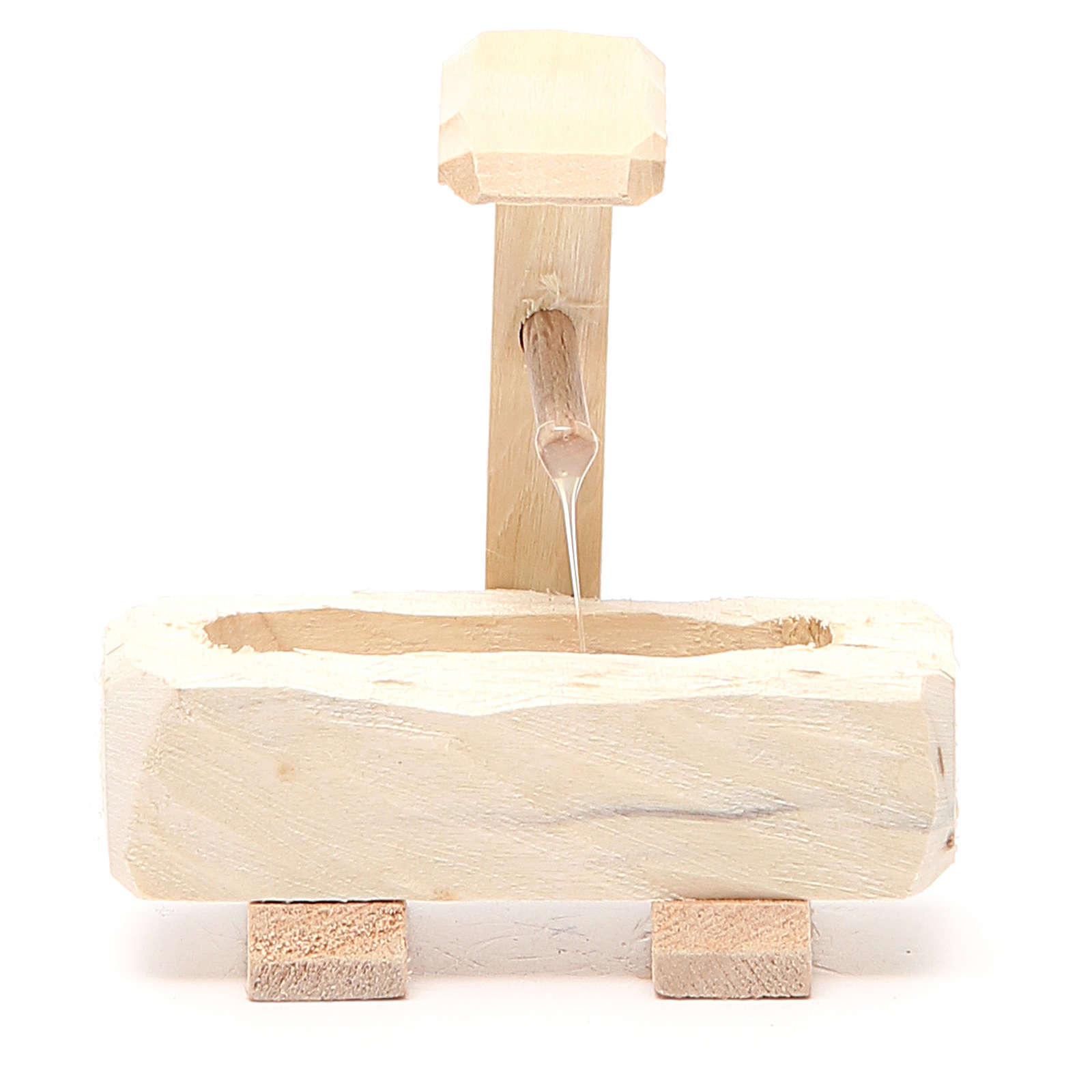 Brunnen Holz.Brunnen Für Krippe Aus Holz 8x8x5cm