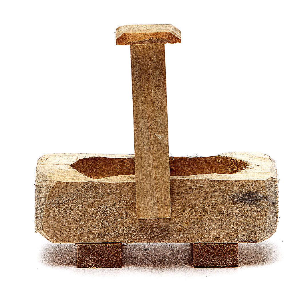 Fontanella legno 8x5x8 cm 4