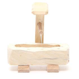 Fontanella legno 8x5x8 cm s1