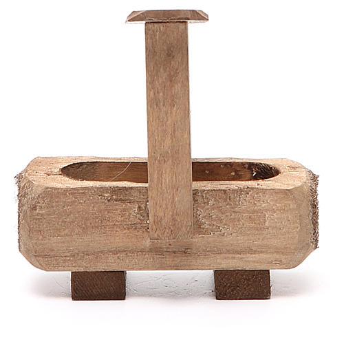 Fontanella per presepe legno scuro 8x5x8 cm 3