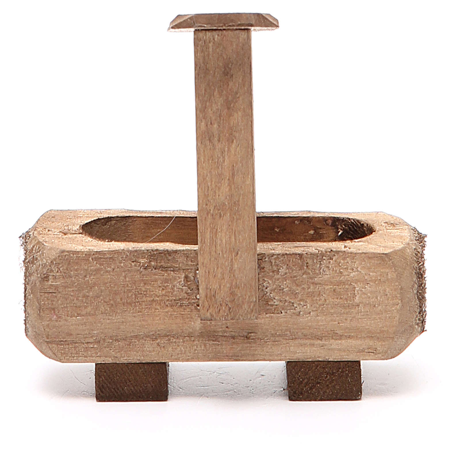 Small Fountain for nativity dark wood 8x5x8cm 4