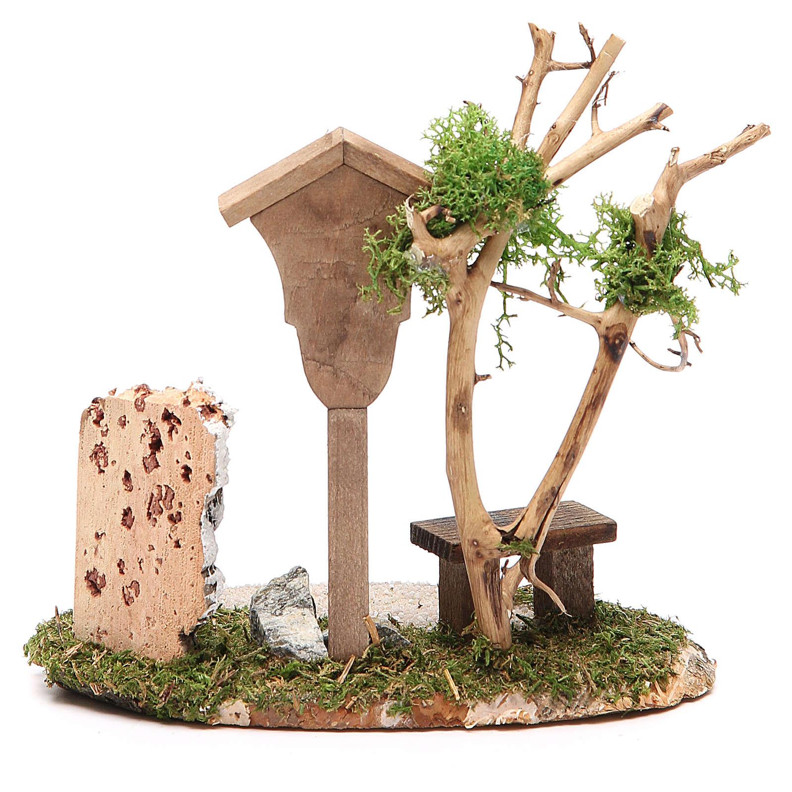 Nicchia in legno con Madonna h. 14x9,5x13 cm 4