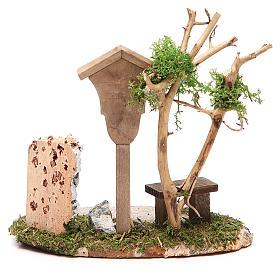 Nicchia in legno con Madonna h. 14x9,5x13 cm s2