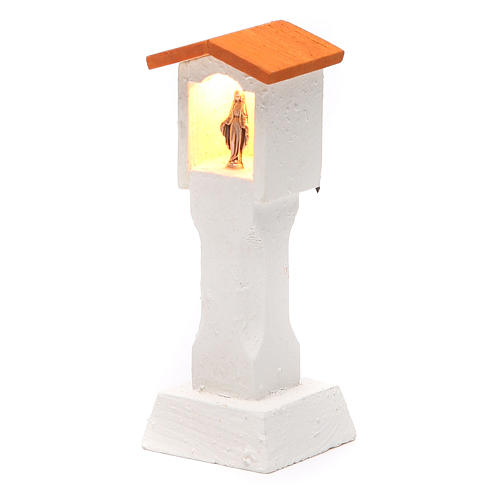 Niche in wood with light 4,5V h. 13x5x5cm 2