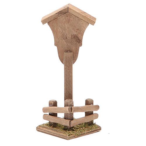 Croce di campagna ambientazione h. 12x4,5x4,5 cm 2