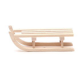 Acessórios de Casa para Presépio: Trenó madeira para presépio h 2,5x3,5x9 cm