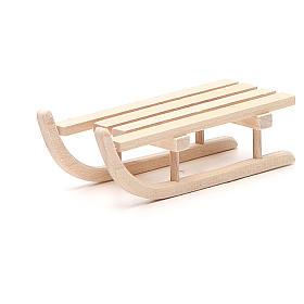 Trenó madeira para presépio h 2,5x3,5x9 cm s2