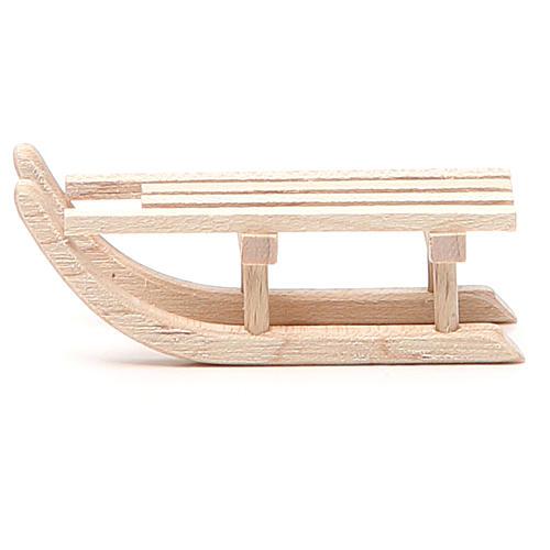 Traîneau en bois pour crèche 6,5x2,5 cm 1