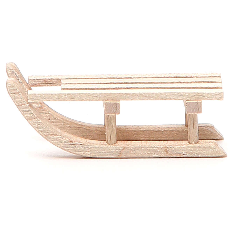 Slitta in legno per presepe h. 2x6,5x2,5 cm 4