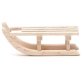 Slitta in legno per presepe h. 2x6,5x2,5 cm s1