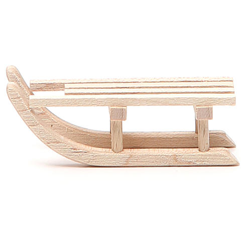Sled in wood for nativity h. 2x6,5x2,5cm 1