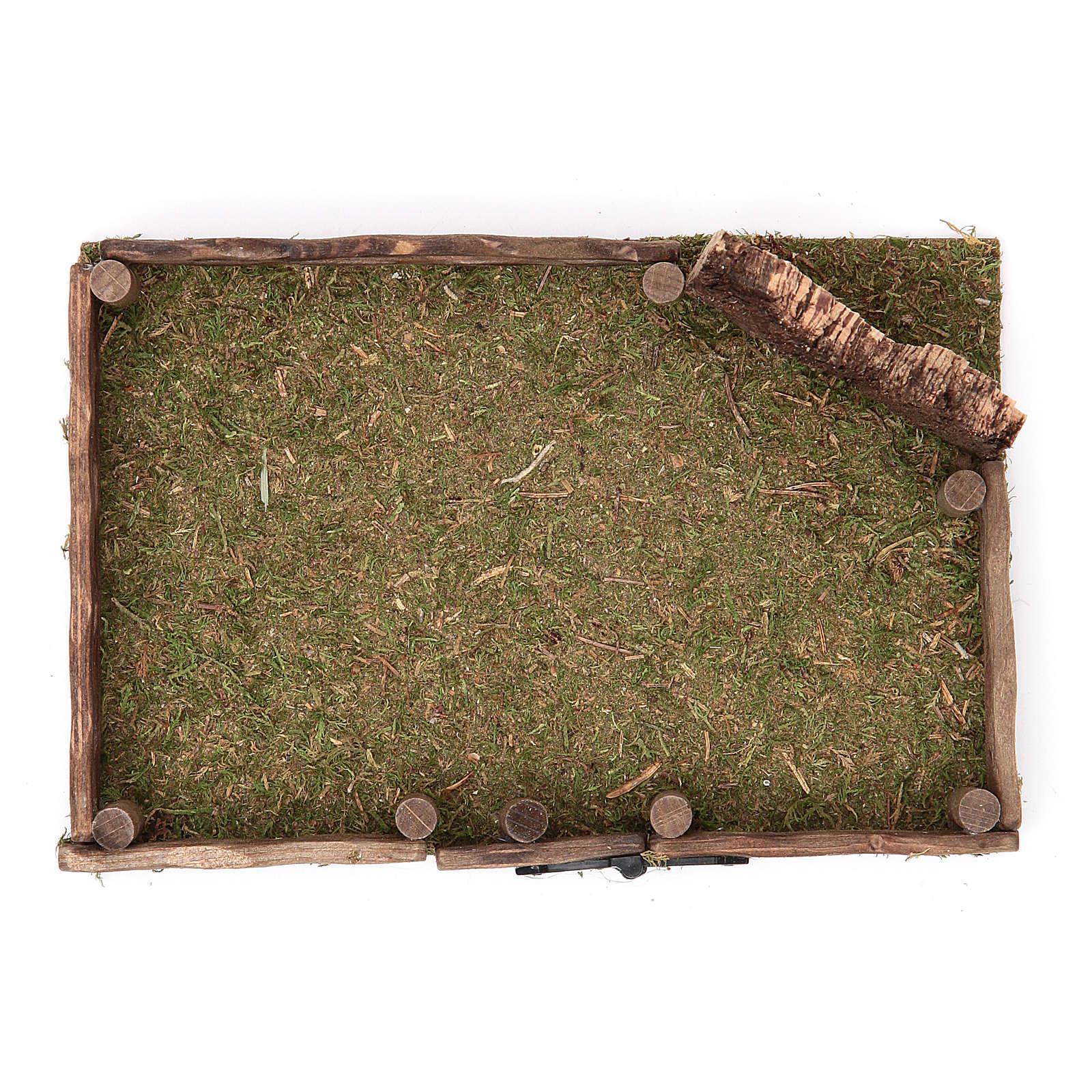 Clôture en bois crèche 12x18 cm 4