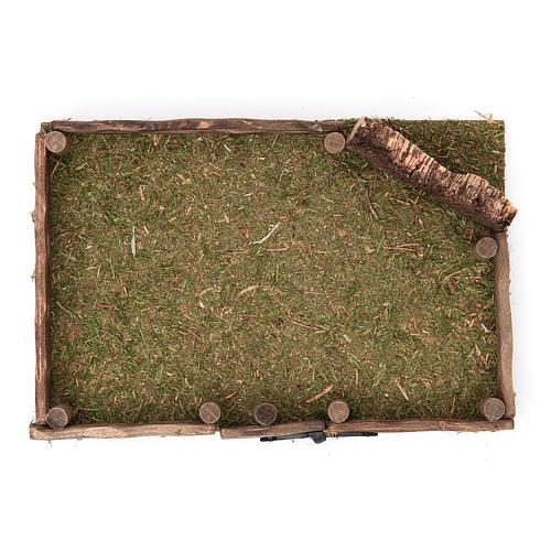 Clôture en bois crèche 12x18 cm 2