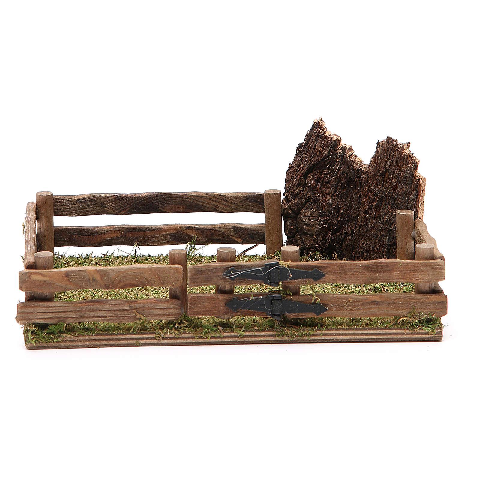 Recinto in legno presepe 12x18 cm 4