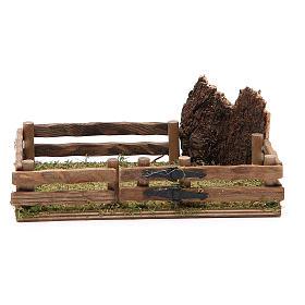 Ogrodzenie z drewna szopka 12x18 cm s1