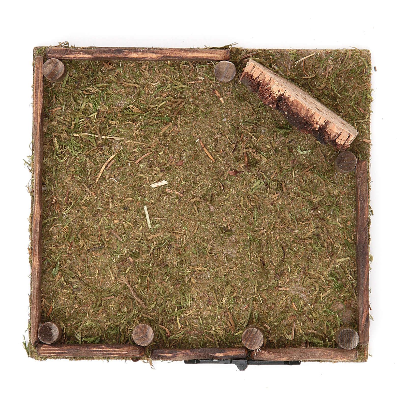 Corral de madera belén 12x12 cm 4