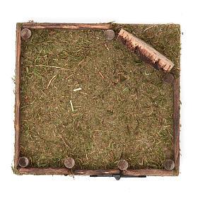 Clôture en bois pour crèche 12x12 cm s2