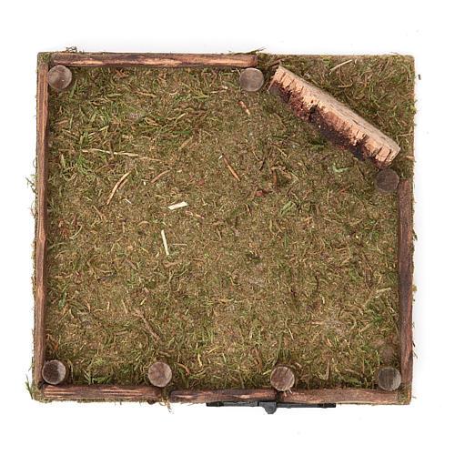 Clôture en bois pour crèche 12x12 cm 2
