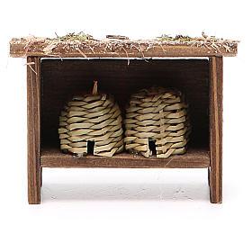 Arnie per api in legno e vimini h. 6x7x3 cm s1