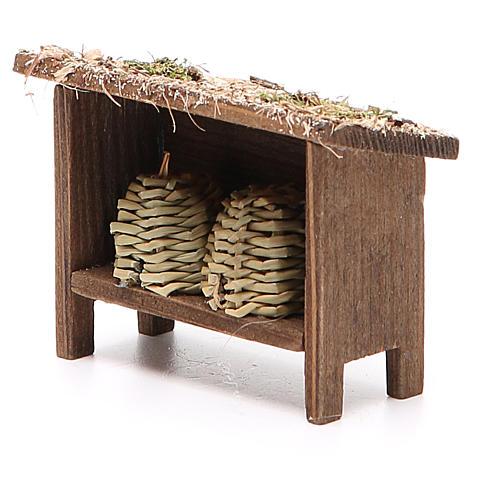 Arnie per api in legno e vimini h. 6x7x3 cm 2