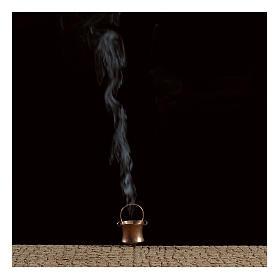 Topf mit Raucheffekt und Destillat 4,5V für Krippe s2