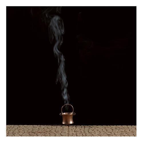 Topf mit Raucheffekt und Destillat 4,5V für Krippe 2