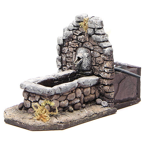 Electric fountain for nativities in rock-like resin 11x16x8cm 2