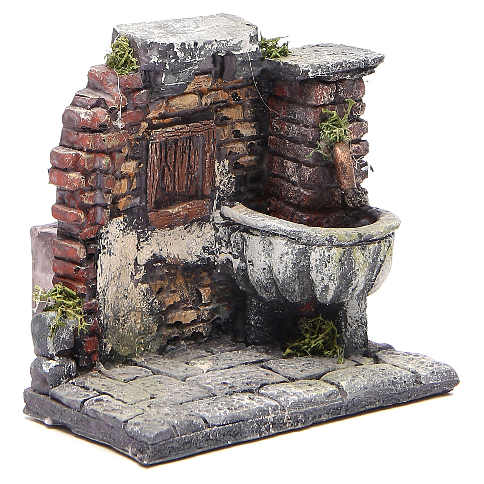 Electric fountain for nativities in resin 13x13x12cm 4