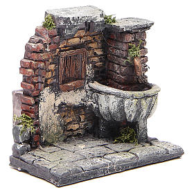 Electric fountain for nativities in resin 13x13x12cm s3
